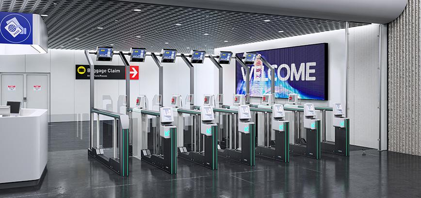 Immigration Gates For Identity Checks