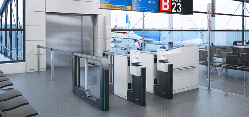 Boarding Gates For Ticket Control Magnetic