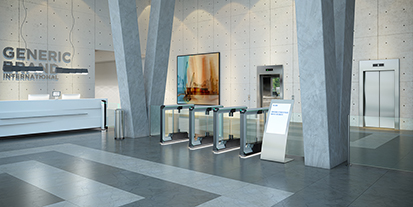 FlowMotion® in use – today: reception areas
